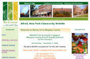 Alfred NY Community Website serving Western NY - Website Designer  David Williams
