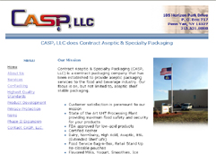 Contract Aseptic & Specialty Packaging, LLC. provides Aseptic processing and packaging to the food and beverage industry.